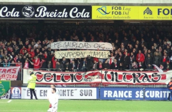 youporn banner at french ligue 1 brest vs spg match