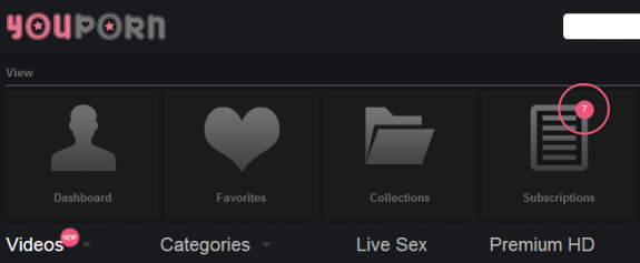 youporn new video notifications feature